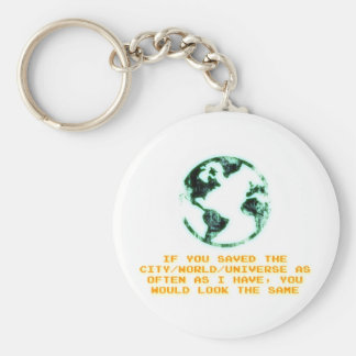 Save the city world universe keychains