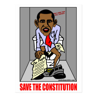 SAVE THE CONSTITUTION POSTCARD