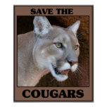 Save the Cougar Posters
