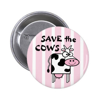Save the Cows Cute Animal Rights 6 Cm Round Badge