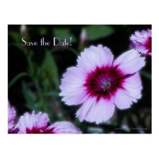 Save the Date 75th Birthday Purple Flower Postcard