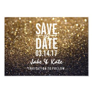 Save the Date - A Gold Lit Nite Card