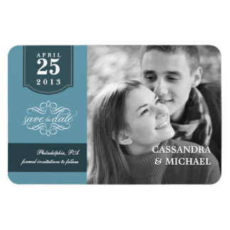 Save the Date - Add Your Photo Custom Wedding Rectangle Magnets