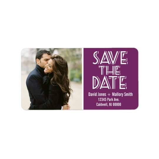 Save the Date Address Labels | Weddings