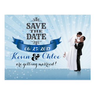 Save the Date (African American Couple) Postcard