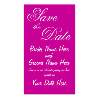 Save the Date Announcement cards Pack Of Standard Business Cards
