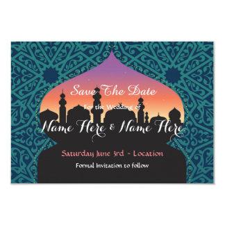 Save The Date Arabian Nights Wedding Teal Invite