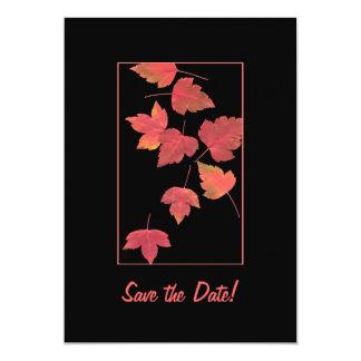 Save the Date - Autumn Wedding 13 Cm X 18 Cm Invitation Card