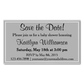 Save the Date Baby Shower Magnetic Card Reminders