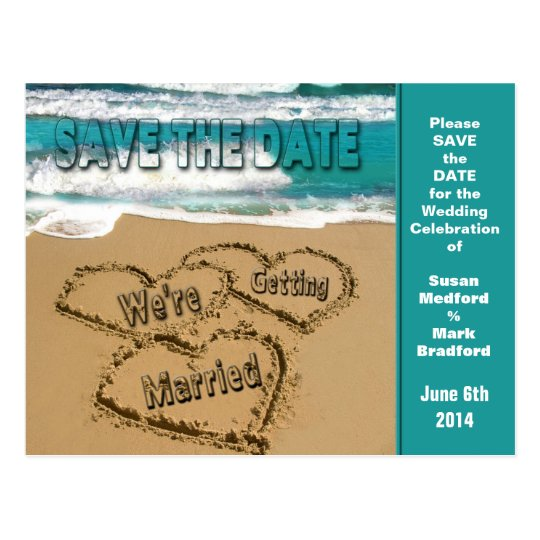 SAVE THE DATE - BEACH SCENE - POST CARD