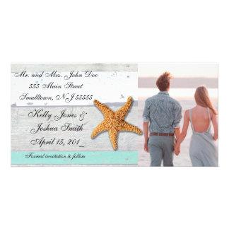 Save the Date Beach Seashore Announcement Card