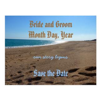 Save the Date Beach Theme Postcard