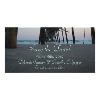 Save the Date - Beach Wedding Photo Card Template