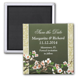 save the date beautiful floral magnets