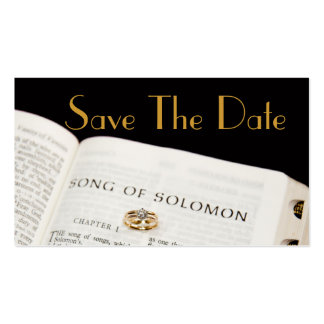 Save The Date  Bible Rings Business Card