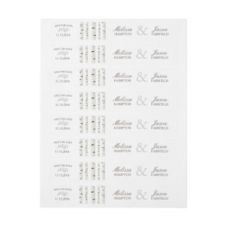 Save the Date Birch Tree Wedding Wrap Around Label Wraparound Address Label