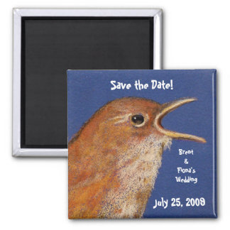 SAVE THE DATE BIRD MAGNET