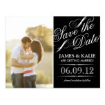SAVE THE DATE | BLACK & WHITE POST CARDS