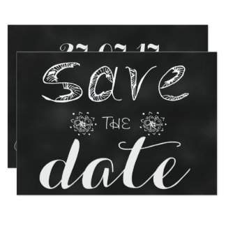 Save The Date: Blackboard Edition Card