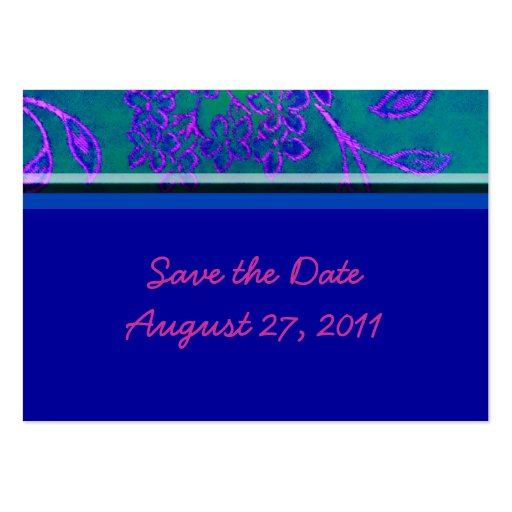 Save the date - Blue Business Card Template