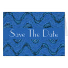 Save the Date blue pattern Card