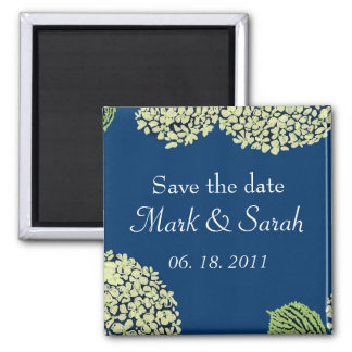 Save the Date Blueberry Hydrangea Magnet