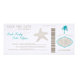 Save the Date Boarding Pass Custom Invitation