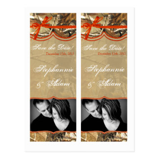 Save the Date Book Mark Favors Hunters Camoflouge Postcards