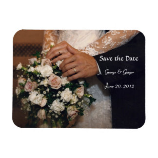 Save the Date Bouquest Rectangular Photo Magnet