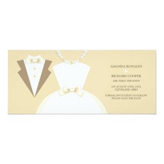 Save The Date Bride & Groom Wedding Invitation