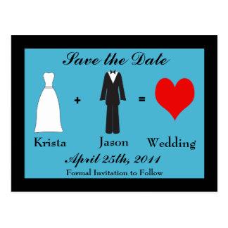 Save the Date - Bride plus Grooom Postcard