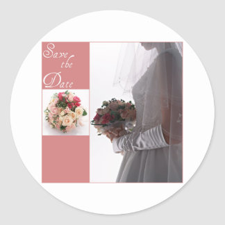 Save the date-Bride Round Sticker