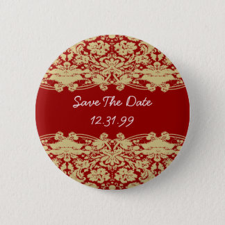 Save The Date Button-Personalizable Text 6 Cm Round Badge