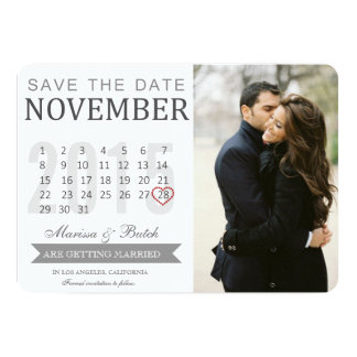 Save the Date Calendar Announcements | Wedding