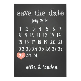 Save The Date Calendar Card