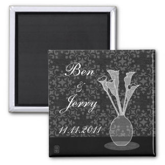 Save The Date Calla Lily Custom Magnet