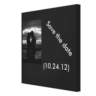 Save the date Canvas (Customize) Stretched Canvas Print