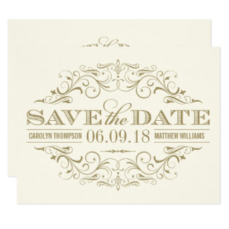 Save the Date Card | Antique Flourish