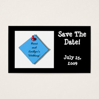 SAVE THE DATE CARD BLACK