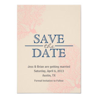 Save the Date Card [coral]