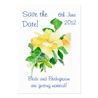 'Save the Date' Card, Dreaming Spires Roses Pack Of Chubby Business Cards