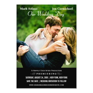 Save the Date Card | Movie Poster Design 13 Cm X 18 Cm Invitation Card