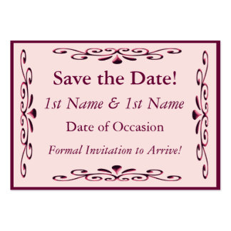 Save the Date Card Pack Of Chubby Business Cards