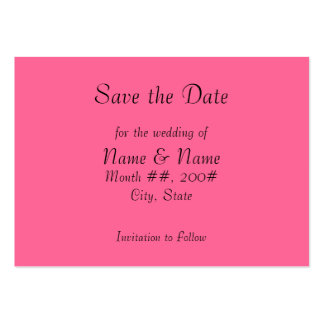 Save the Date card with flowers on the back Business Card Templates