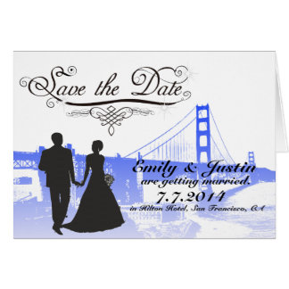 SAVE THE DATE CARDS WITH VIEW OF SAN FRANCISCO