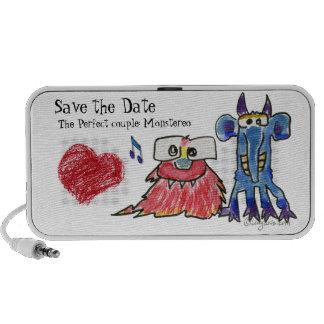Save the Date Cartoon Monstars Notebook Speaker
