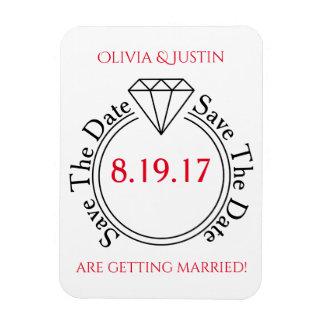 Save The Date Casual Stick Figure Wedding Rectangular Photo Magnet