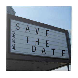 Save The Date Ceramic Tile