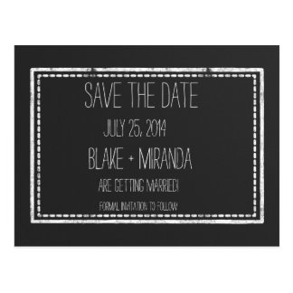 Save the Date Chalkboard Postcards