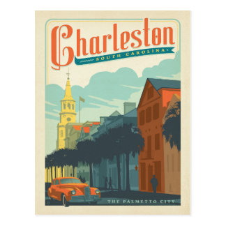 Save the Date | Charleston, SC The Palmetto City Postcard